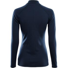Aclima WarmWool Mock Neck Zip Shirt Dame navy blazer